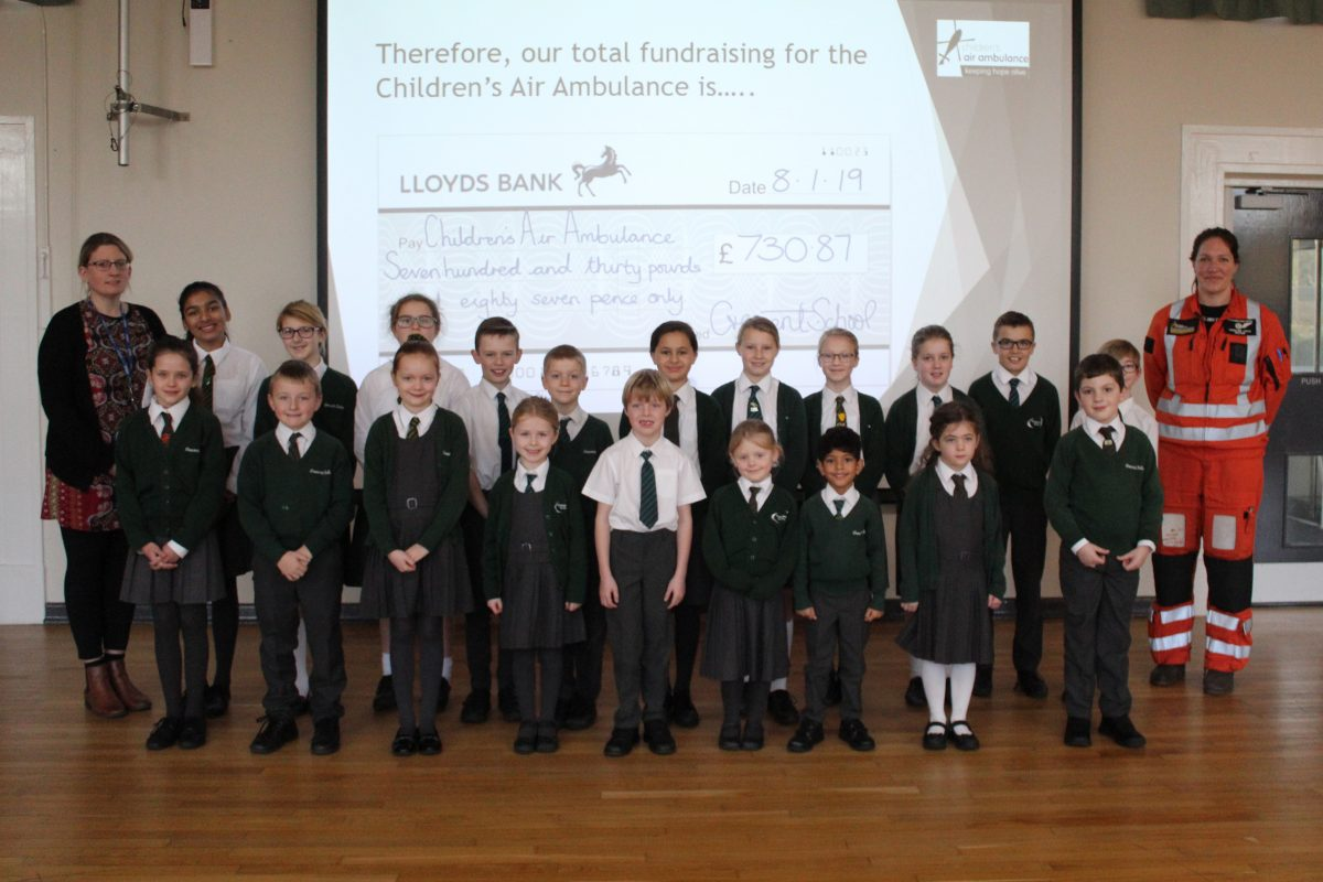 Pupils raise hundreds for Air Ambulance