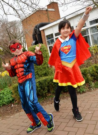 LOOK: kids in costume for school's Down Syndrome awareness day