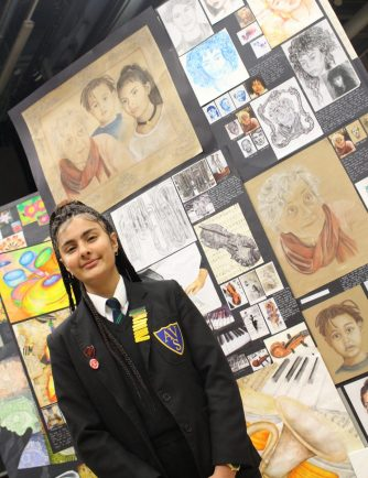 Kaleidoscope of colour on display at pupils' art exhibition
