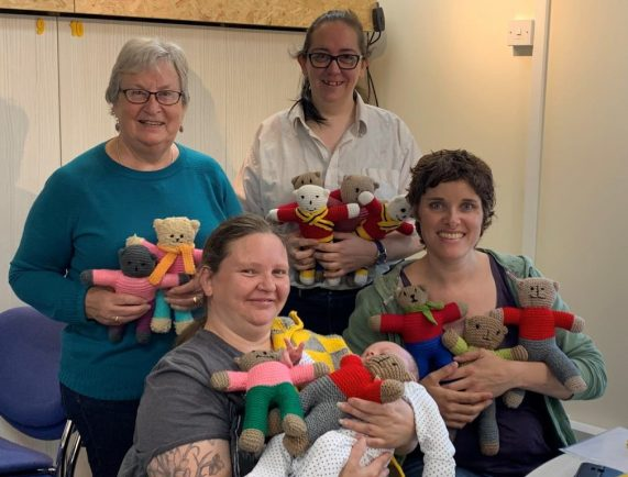 Volunteers knit 'Trauma Teddies' to help comfort distressed children in emergencies