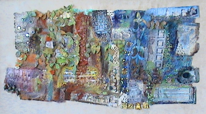 Textile artist has exhibition all sewn up
