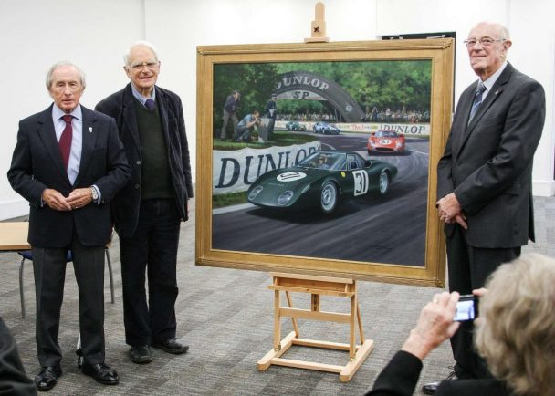 Sir Jackie Stewart unveils painting of himself at British Motor Museum