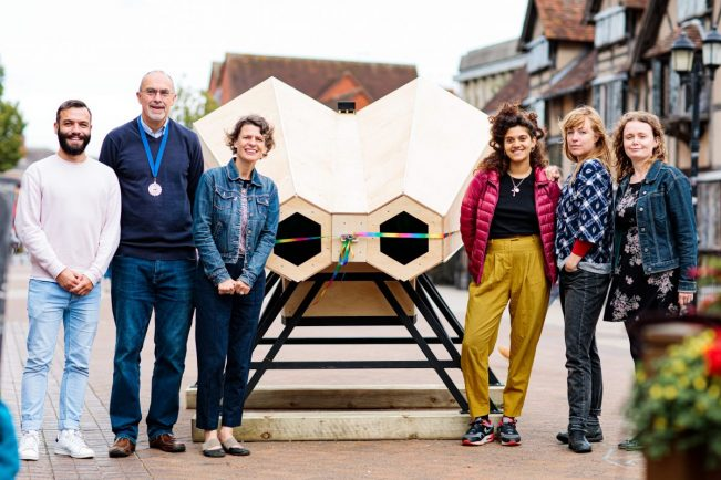 Big binoculars offer future glimpse of Shakespeare's home town