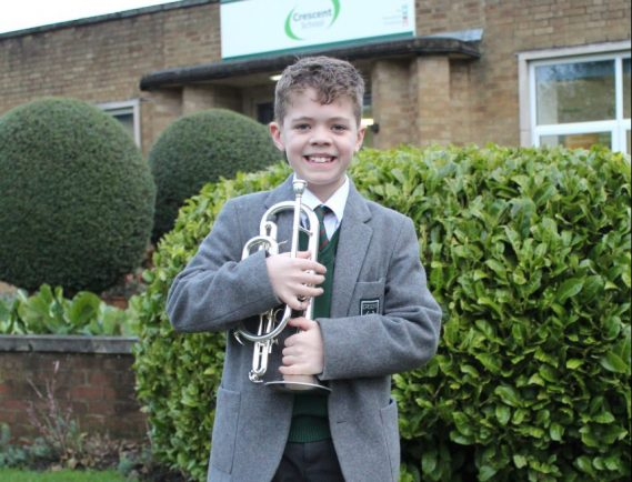 Talented young musician earns place in national brass band