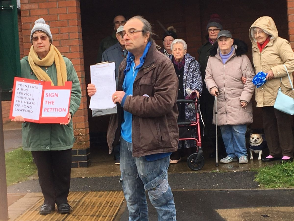 Campaigners celebrate introduction of dial-a-ride bus service to Long Lawford